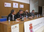 Mesa final de 'Biocastanea 2010', con Alfonso Fernández Manso (primero por la izquierda). 19 nov. 2010. Foto: Enrique López Manzano.