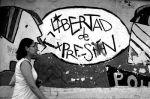 Mural callejero. ¡Libertad de expresión! Valladolid, 5 marzo 2011. Vecinosvalladolid.org.