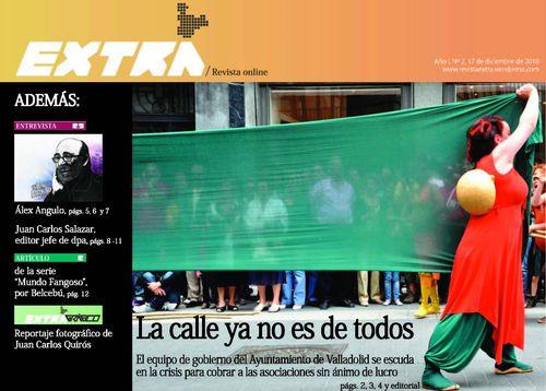 Portada de la revista online 'Extra'. 'La calle ya no es de todos'. 17 dic. 2010.
