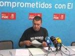 Rueda de prensa de Gabino Colinas en la sede del PSOE. Ponferrada. 14 enero 2010. Psoebierzo.es.
