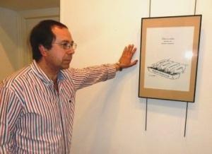 Santiago Castelao presentando su exposición 'Secreto a Voces', Ponferrada, 4 jun. 2013. Foto: Enrique L. Manzano.