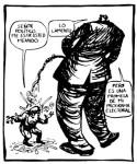 Viñeta. Denuncia de los abusos políticos. Fuente: rojoynegro.info. Autor El Roto.