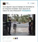 El tuit publicado por el senador popular Vicent Aparici en el que reclamaba una sanción para Ribó. 17 jun. 2015. Twitter.com.