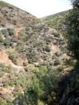 El valle del Meruelo desde la senda de los Puentes de Mal Paso. Molinaseca, 30 agosto 2008. Foto: Enrique L. Manzano.