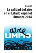 Portada del informe 'La calidad del aire en el Estado español durante 2014'. Ecologistasenaccion.org.