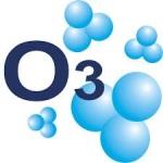 Molécula de ozono. Busaca.com.