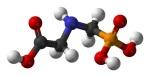 Representación de la química del glifosato. Wikipedia.org.