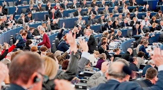 Una votación en la Eurocámara. 2015. Noalttip.blogspot.com.es.