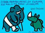 Viñeta. Fuente: elefantes por la República. Autor: M. Umeneta.