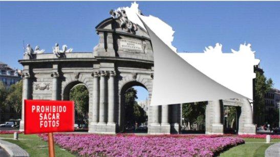 ¿Te imaginas ir a Madrid y no poder fotografiar, por ejemplo, la Puerta de Alcalá? 2015  Change,org.