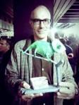 Eduardo Laplaza recoge el premio a 'El Escarabajo Verde'. Zaragoza, 16 mayo 2013. Rtve.es.
