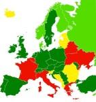 Los países representados en color verde podrían también restringir la toma de imágenes en espacios públicos. Wikipedia.org.