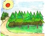 Efemérides. Árbol. Alegoría infantil al Día Forestal Mundial. Fuente: Franciscoponce.com.