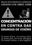 Concentración contra las granjas de visón american. A Estrada, 4 abrl 2015. Eldiario.es.