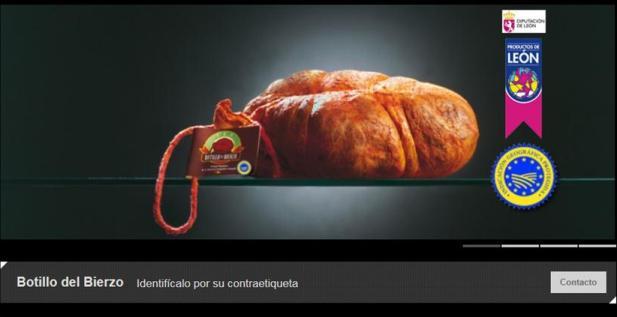 El botillo es uno de los productos promocionados en  la nueva pág dl CCB. Botillodelbierzo.es.