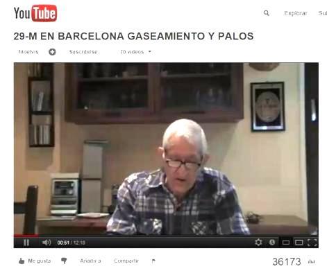 José Martínez Díaz, ex sargento de la Guardia Urbana de Barcelona, 29 marzo 2012. Youtube.com.
