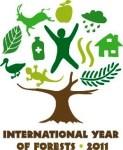 ONU. Efemérides. Logo. Año Internacional de los Bosques. 2011. Fuente Unecologistaenelbierzo.wordpress.com.