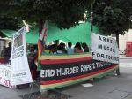 Manifestación contra Mugabe. Londres, 2006. Wikipedia.org.