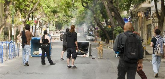 Revuelta ciudadana en Grecia. Rebeldog.tumblr.com.