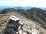 Vista de las dos cimas de la Peña do Seo. 6 sept. 2015. Foto: Enrique L. Manzano.