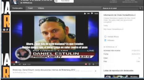 Daniel Estulín entrevistado en Prisonplanet.TV. 21 junio 2012. Youtube.com.