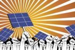 Campaña para reivindicar un cambio en la política energética del gobierno. Sept. 2015. Elcaminodelsol.org.