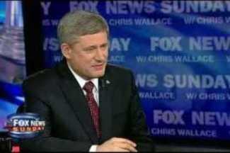 El primer ministro de Canadá, Stephen Harper, en una entrevista para la Cadena Fox News. Topnews.net.nz.
