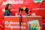 Elena Cortés, instantes antes de iniciar la rueda de prensa. 19 sept. 2015. Cordopolis.es. Foto: Álvaro Carmona.
