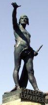 Estatua de Viriato en la plaza homónima de Zamora. Wikipedisa.org. 25 agosto 2008. Autor: Eduardo Barrón.