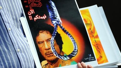 Gaddafi anuncia que no abandonará Libia y que antes 'morirá como un mártir'. 23 febr. 2011. Mexico.cnn.com. Afp.