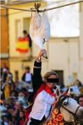 Otra forma de naltrato en la corrida de gansos en Carpio de Tajo (Toledo). Justiciaydefensaanimal.es.