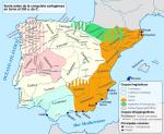 Pueblos autóctonos de Iberia en el año 300 antes de Jesucristo. Wikipedia.org.