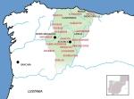 Situación de los astures. Siglo I a. J. Wikipedia.org.