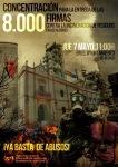 Cartel. Concentración para la entrega de 8.000 firmas contra la incineración de resididuos. Alcalá de Guadaira., 11 mayo 2015. Noincineracionbasura.