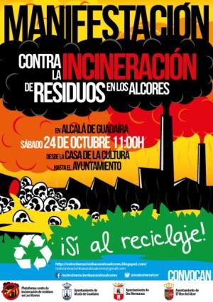 Manifestación contra la incineración de los residuos en Los Alcores . 24 oct. 2015. Noincineracionbasuralosalcores.blogspot.com.es.
