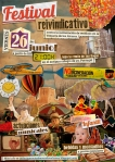 Cartel. Festival Reivindicativo. Alcalá de Guadaira, 26 jun. 2015. Noincineraconbasura.