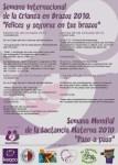 Cartel del I Concurso de Fotografía sobre lactancia materna y crianza en brazos. 2010.