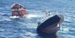 Imagen aérea del petrolero Prestige partido en dos. Elpais.com. Efe.