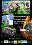Cartel. Convocatoria del Día Mundial por el Clima en Santander, 29 nov. 2015.