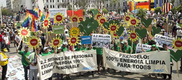 Manifestación contra el cambio climático. 2014. Fuente: Avaaz.org.