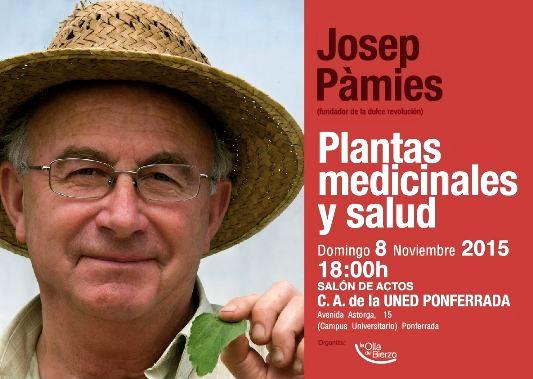 'Plantas medicinales y salud'. Josep Pàmies. Ponferrada, 8 nov. 2015.