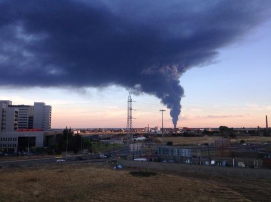 Vista del incendio desde los Altos de Nava. Ordoncino, 27 jul. 2015. Ileon.com. Foto: Nazaret Díaz.
