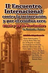II Encuentro Internacional Contra la Incineración y por el Residuo Cero. Montcada i Reixach, 27 - 29 nov. 2015. Airelimpio.org.