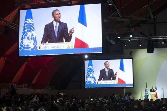 Barack Obama pronuncia un discurso en la inauguración de la cumbre del Clima (COP 21). París. 30 nov. 2015. blogs.20minutos.es.
