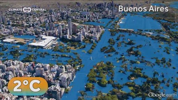 Buenos Aires con 2º C más. Infobae.com.