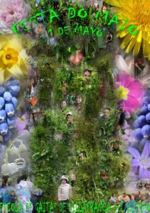 Cartel de la 'Festividad de los Mayos'. 1 mayo 2010. Autor: Lucille Brieux.