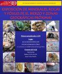 Cartel. Exposición de minerales, rocas y fósiles de El Bierzo y zonas próximas en Puente de Domingo Flórez. Febrero, 2011.