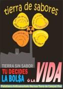 Contrapublicidad de la Plataforma Tierra de Campos Viva para denunciar la hipocresía de la Junta de CyL al autorizar el ATC 2010.