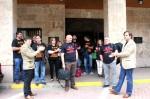 Ediles socialistas abandonan el encierro en defensa del carbón en Bembibre. 20 jun. 2012. Fuente: PSOE
