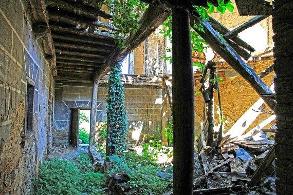 Estado del interior de la casa de las Corralas antes de las obras. 2012. Foto: Nicolás de la Carrera.